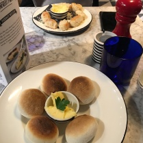 Gluten Free Dough Balls at Pizza Express (with 'regular' Dough Balls Formaggi in the background)